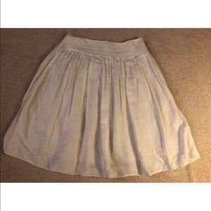 Ralph Lauren Linen Pleated Skirt wide-waistband